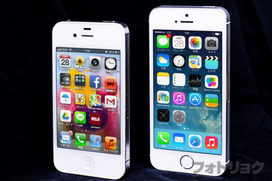 iPhone4sとiPhone5s
