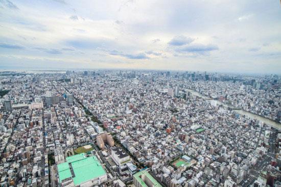 東京スカイツリー展望台から見た風景1