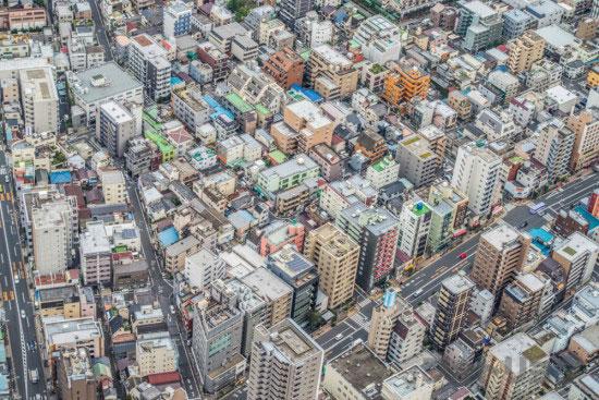 東京スカイツリー展望台から見た風景4