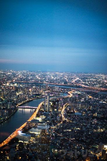 東京スカイツリー展望台から見た風景6