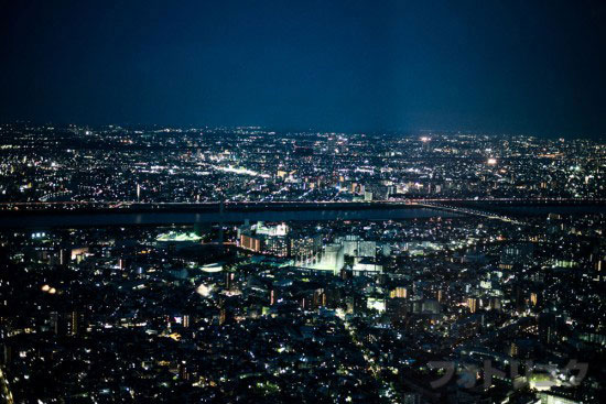 東京スカイツリー展望台から見た風景2