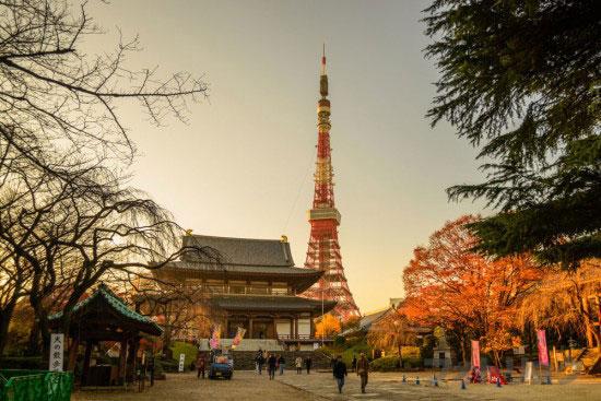 夕暮れ東京タワー