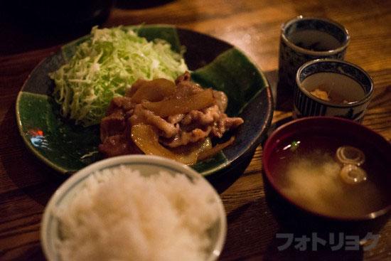 アンバー 生姜焼き定食