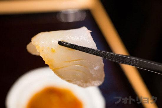 近畿大学水産研究所の鯛のお刺身