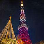 東京タワーの限定ライトアップ!金メダル祝福ダイヤモンドヴェール