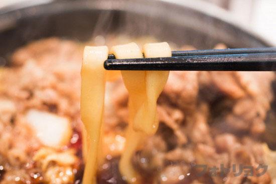 吉野家の牛すき鍋膳のうどん