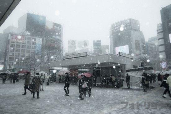 渋谷駅大雪