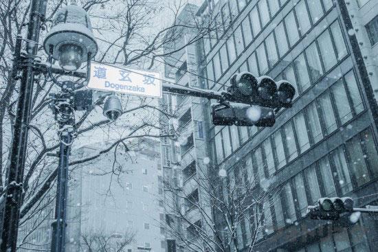 道玄坂の上大雪
