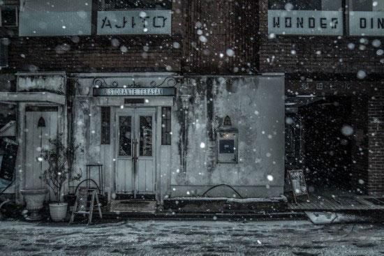 渋谷裏路地大雪