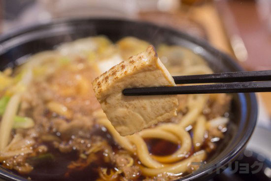 牛すき鍋定食の豆腐