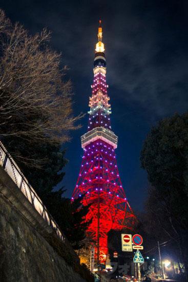 東京タワーライトアップ「ダイヤモンドヴェール」うかい横