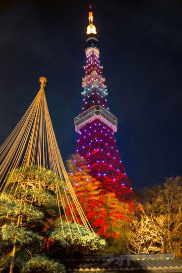 東京タワーライトアップ「ダイヤモンドヴェール」うかい
