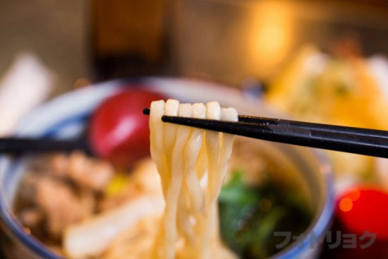 やぶ浅の武蔵野うどんの麺