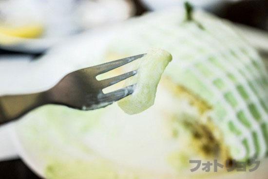 メロンパンケーキのメロン果肉