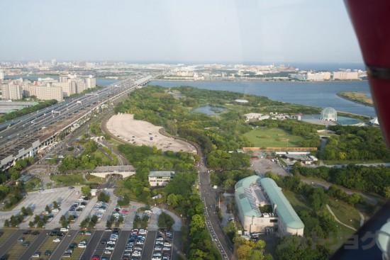 東京ディズニーランドが遠くに
