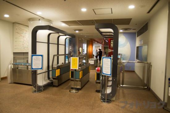 地下鉄博物館の自動改札機