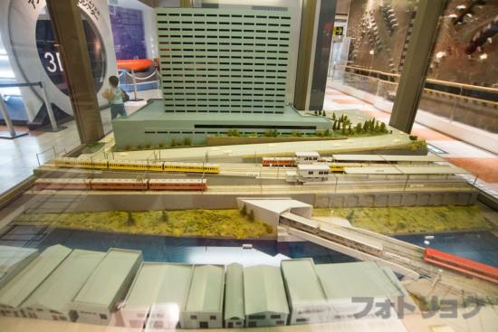 地下鉄博物館の可動式ジオラマ