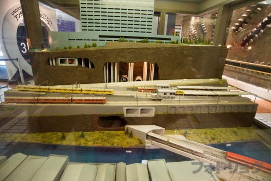 地下鉄博物館の可動式ジオラマ2