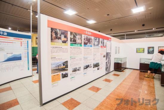 地下鉄博物館の歴史パネル